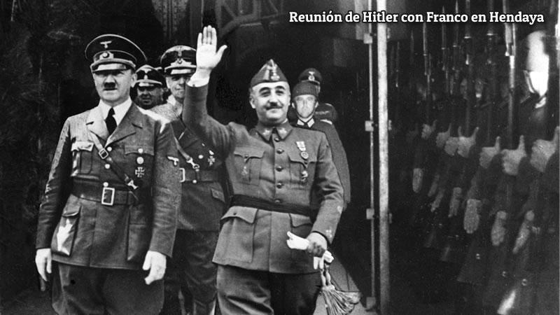 Reunión de Hitler con Franco en Hendaya.