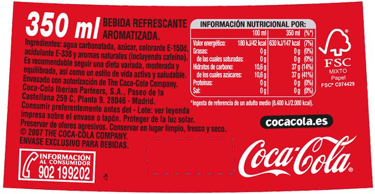 Etiqueta de Coca-Cola