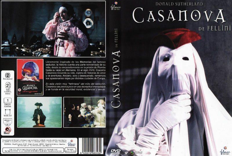 Caratula de la película sobre Casanova del director italiano Federico Fellini