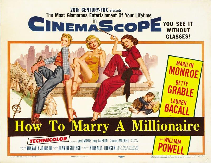 Película de Marilyn Monroe de 1953, Como casarse con un millonario.