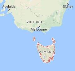 tasmania_mapa