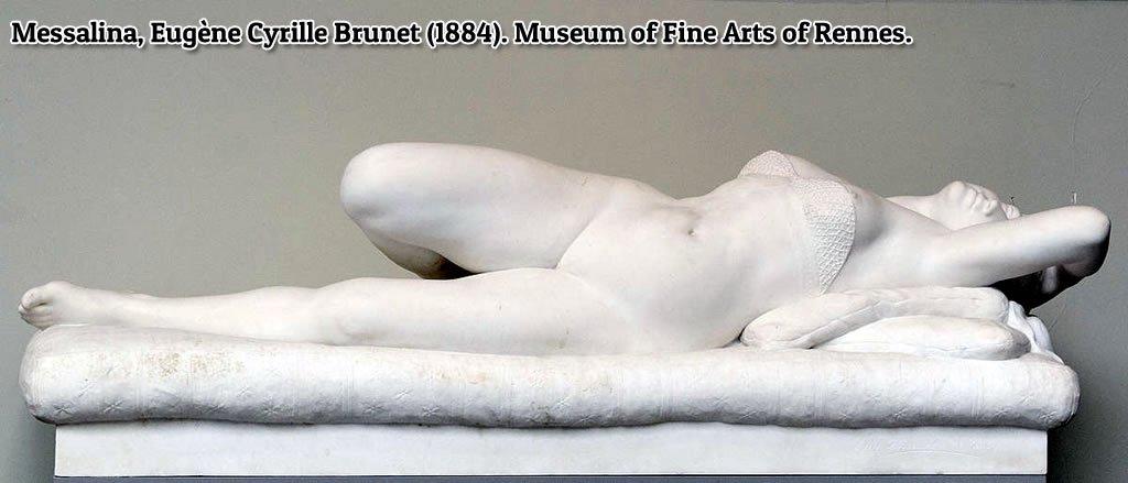 Escultura de Messalina por Eugène Cyrille Brunet (1884). Museum of Fine Arts of Rennes
