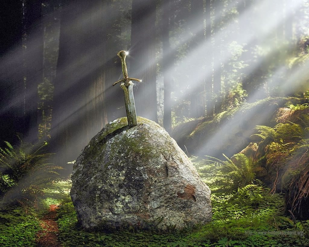 La famosa espada incrustada en la roca: Excalibur
