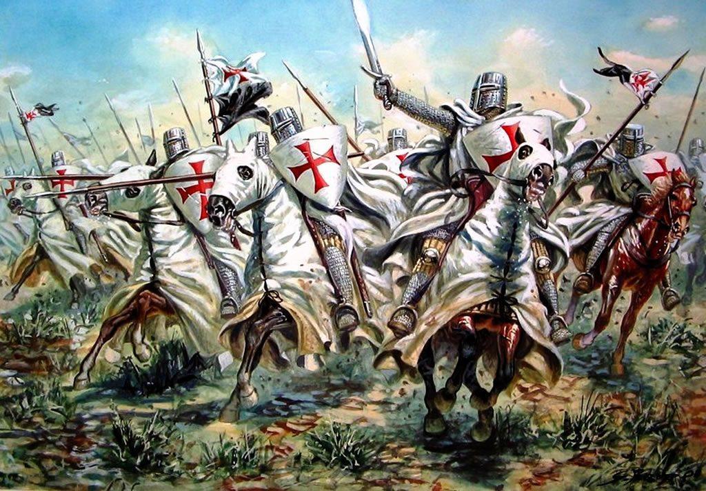 Los caballeros cuando se dedicaban a las Cruzadas