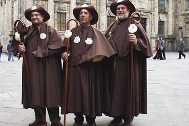 Peregrinos típicos del Camino de Santiago