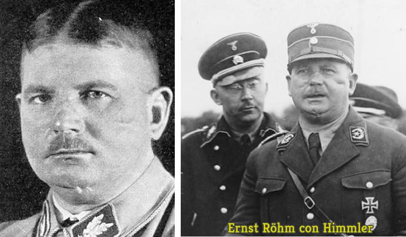 Ernst Röhm con Himmler