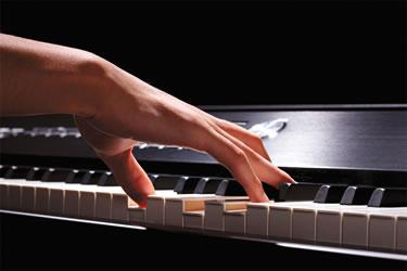 Pianista en acción