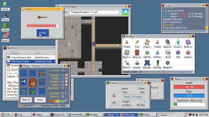Escritorio de Windows 95