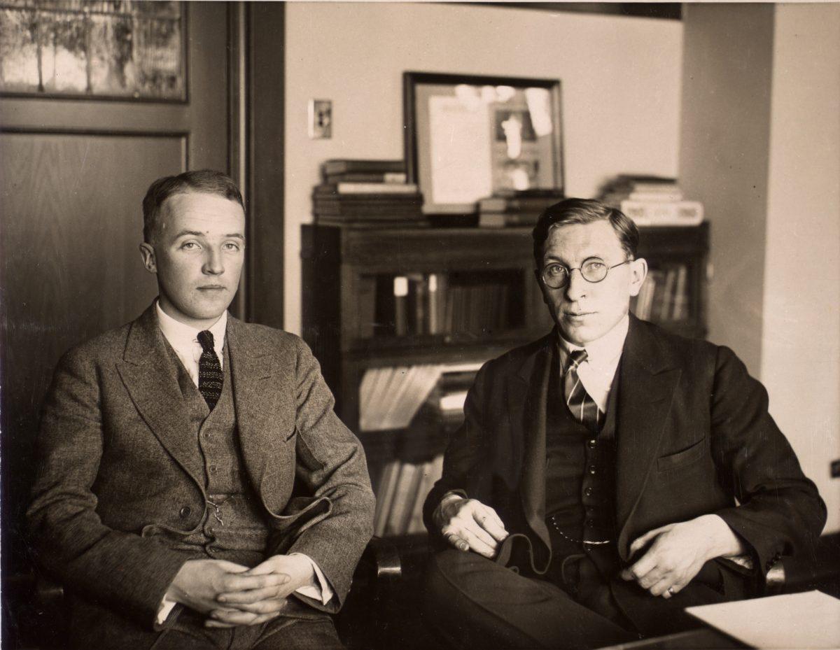 Fotografía de C. H. Best y F. G. Banting - 1924
