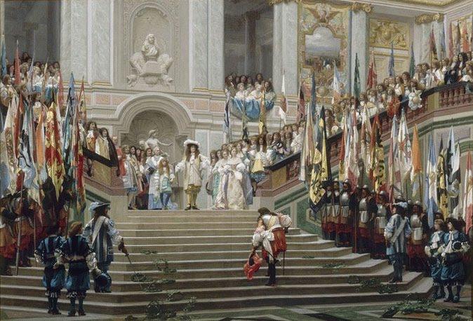 Imagen de la corte de Luis XIV