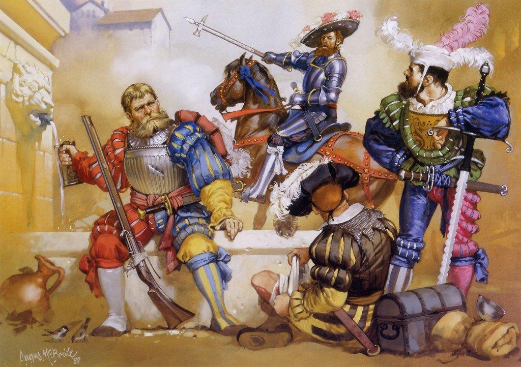 Lasquenetes durante el saqueo de Roma