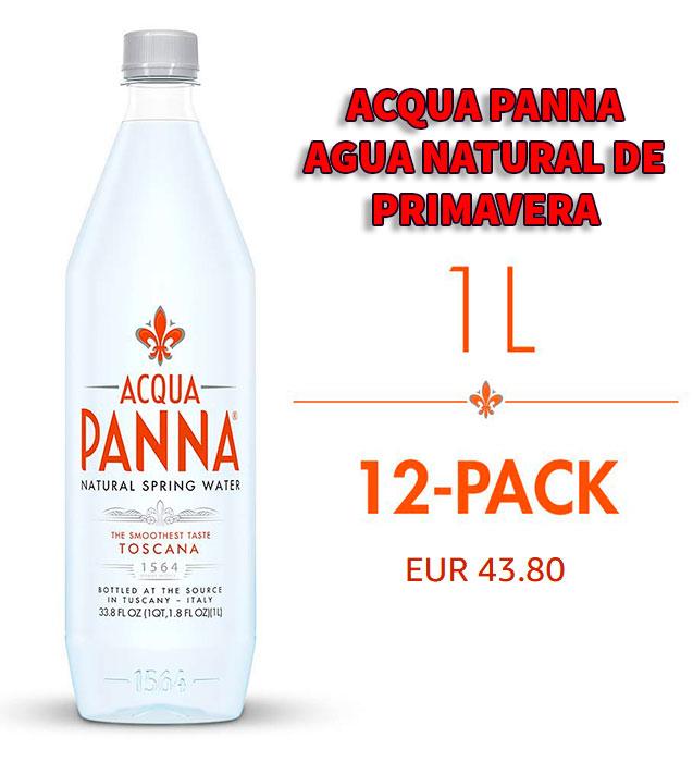 Acqua Panna botella de agua premium