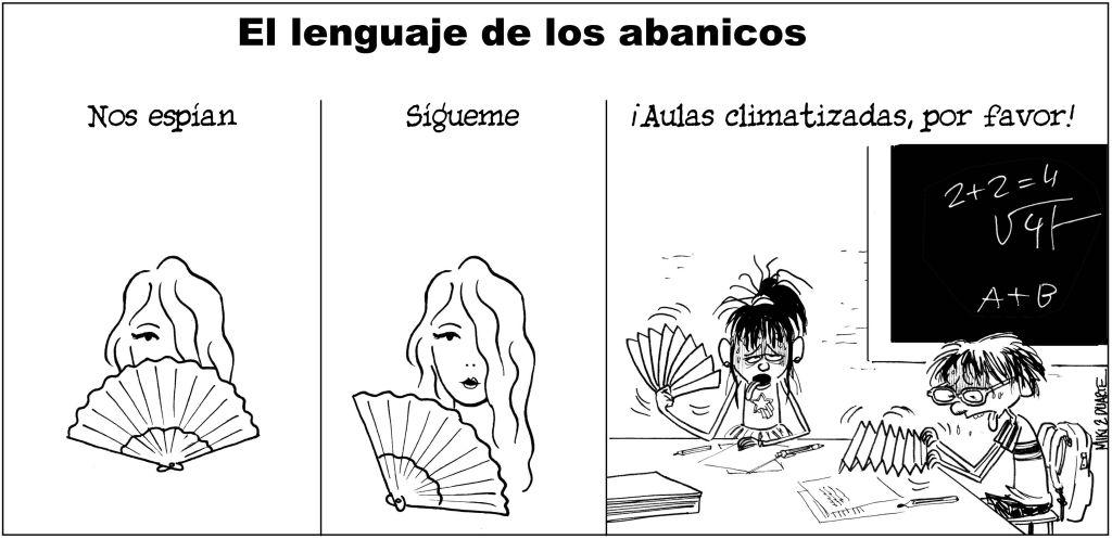 El lenguaje secreto del abanico