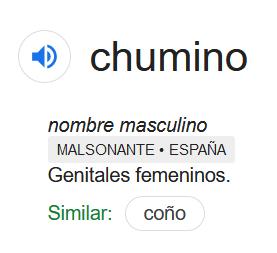 Definición de chumino