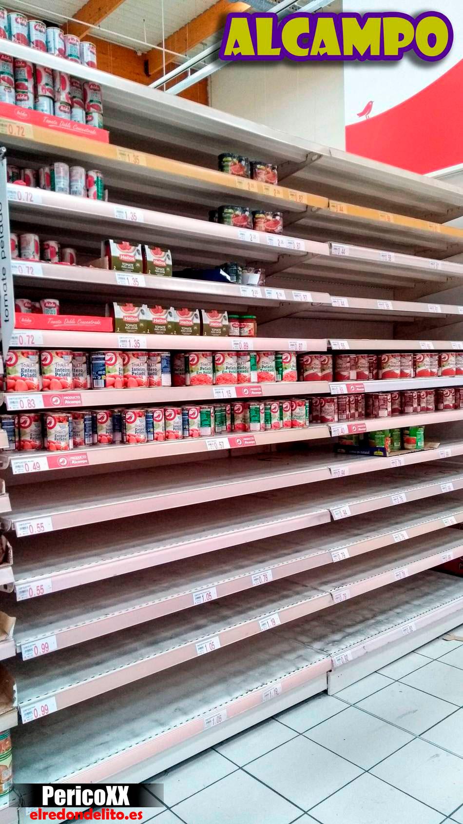 Supermercado Alcampo vacio 03-2020