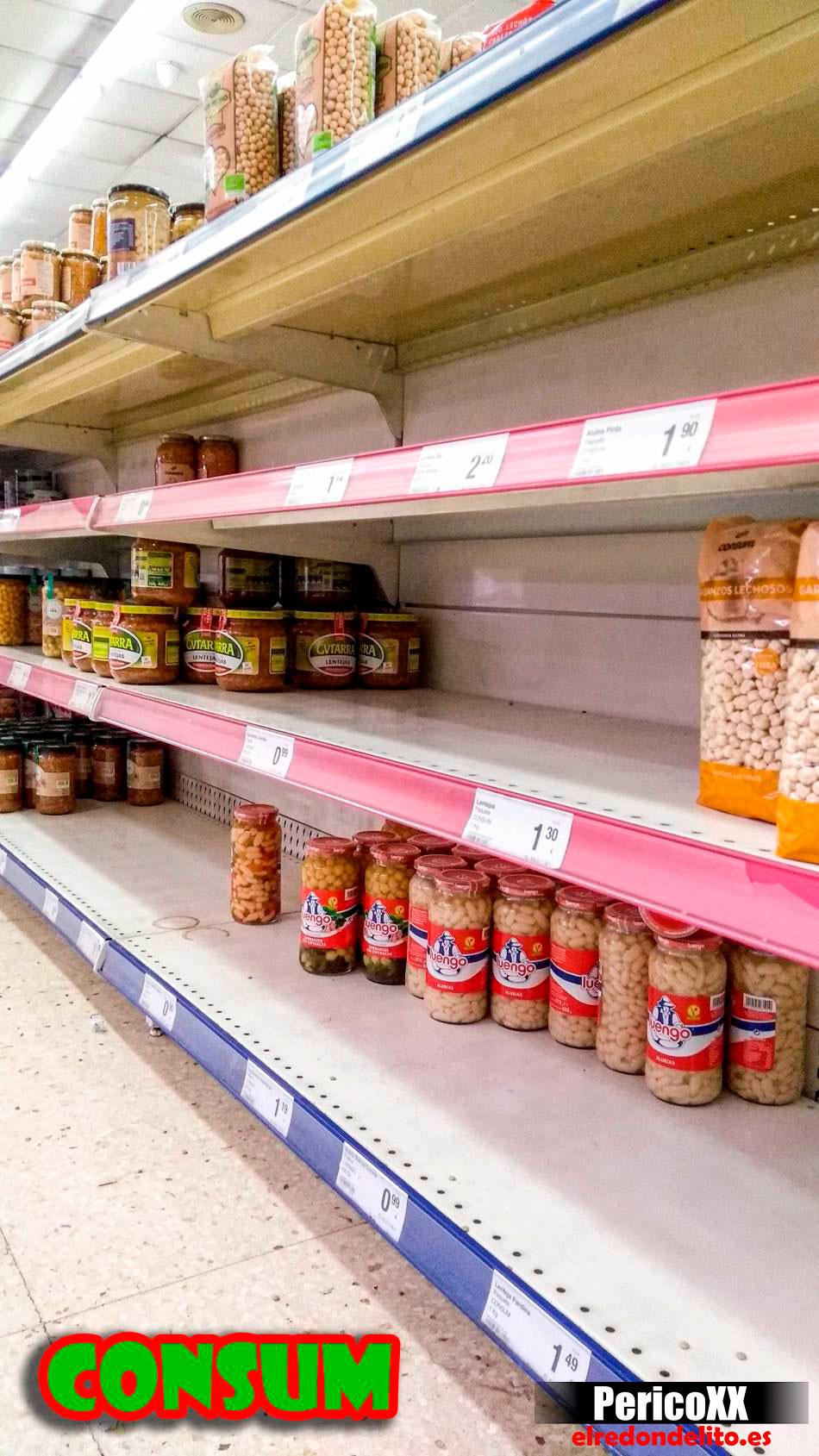 Supermercado Consum vacio 03-2020