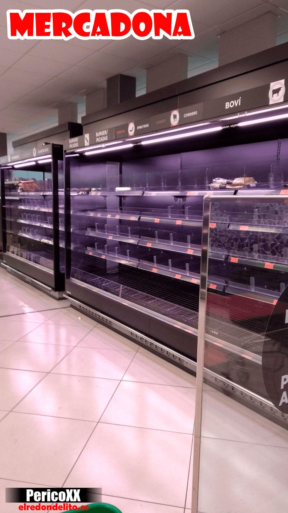 Supermercado Mercadona vacio 03-2020