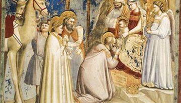 Adoración de los Reyes Magos del artista italiano de Giotto