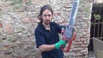 Pablo Iglesias lider del partido Podemos de jovencito
