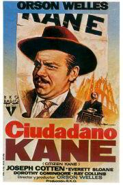 Postér de la película de Orson Welles, Ciudadano Kane, Citizen Kane