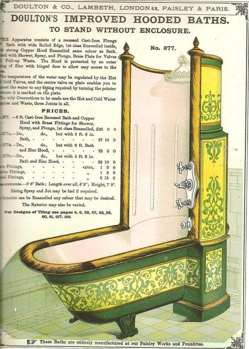 Bañera de la época victoriana