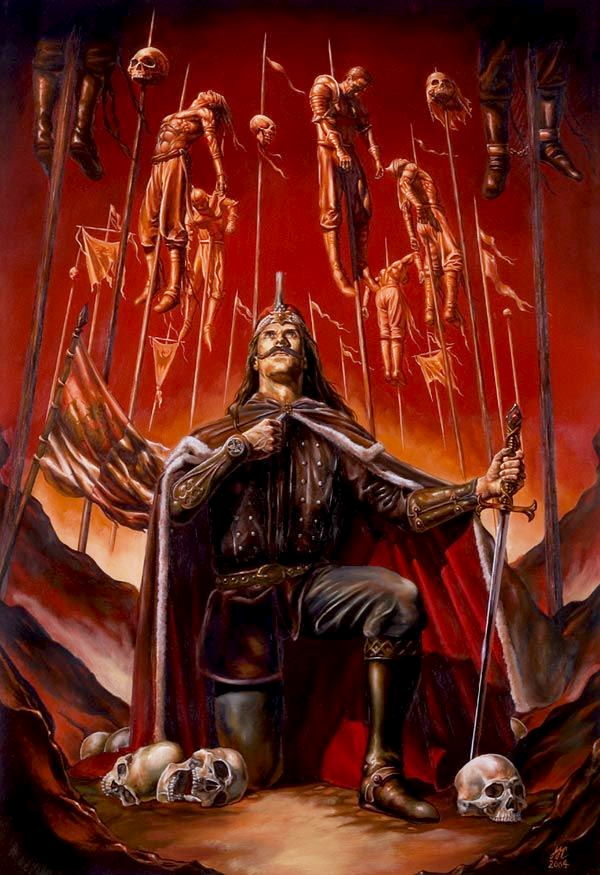 Vlad Tepes mostrando sus poderes