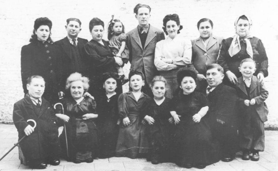 La familia Ovitz Samlet en 1949.