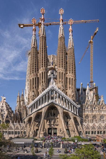 La Sagrada de Familia de Antoní Gaudi en Barcelona