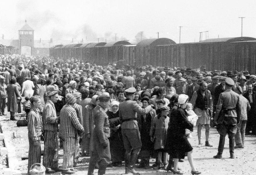 Selección de personas útiles en las rampas de llegada de Auschwitz