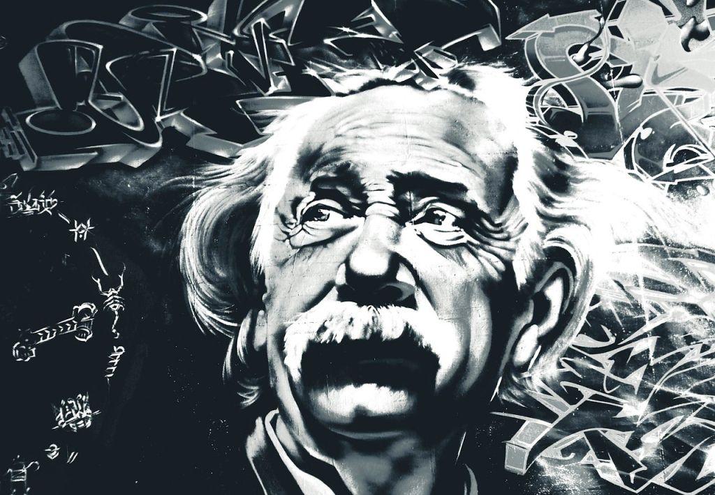 Albert Einstein mural grafiti